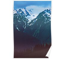 OLYMPIC MOUNTAINS AT DUSK Poster