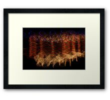 Suburb Christmas Light Series - Candy Cane Deers Framed Print