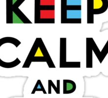 Keep Calm and Eat Cupcakes - mondrian  Sticker