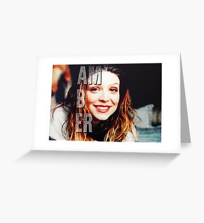 Amber Benson Greeting Card