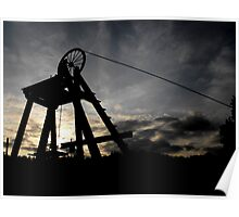 Blists Hill Mining Wheel Poster