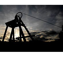 Blists Hill Mining Wheel Photographic Print