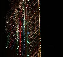Suburb Christmas Light Series -  Xmas Backbone by David J. Hudson