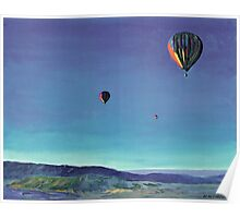 Hot Air Balloon Picture, Balloons Over San Diego County Poster