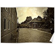 The Side Streets of Marietta Square Poster