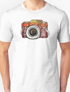 Patchwork Camera Unisex T-Shirt