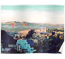 San Francisco California North to Goldengate Poster