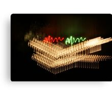 Suburb Christmas Light Series - Xmas Smile Canvas Print