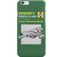 Serenity - Owners' Manual iPhone Case/Skin