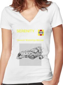 Serenity - Owners' Manual Women's Fitted V-Neck T-Shirt
