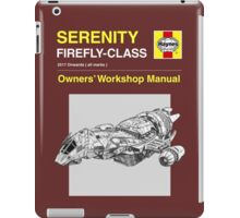 Serenity - Owners' Manual iPad Case/Skin