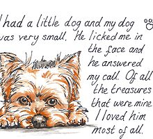 I had a little...Yorshire Terrier by Anne Park