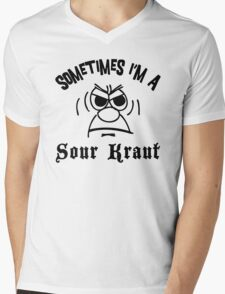 "German ""Sometimes I'm A Sour Kraut"" T-Shirt Mens V-Neck T-Shirt"