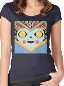 KUCING Women's Fitted Scoop T-Shirt