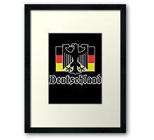 "Germany ""Deutschland"" T-Shirt Framed Print"