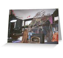 Living room purple house Greeting Card