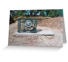 Hubcap in a basket Greeting Card