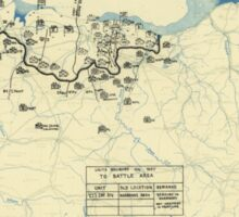 World War II Twelfth Army Group Situation Map July 3 1944 Sticker