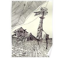 West Texas Windmill ... Poster