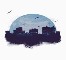 Twilight City Skyline  One Piece - Short Sleeve