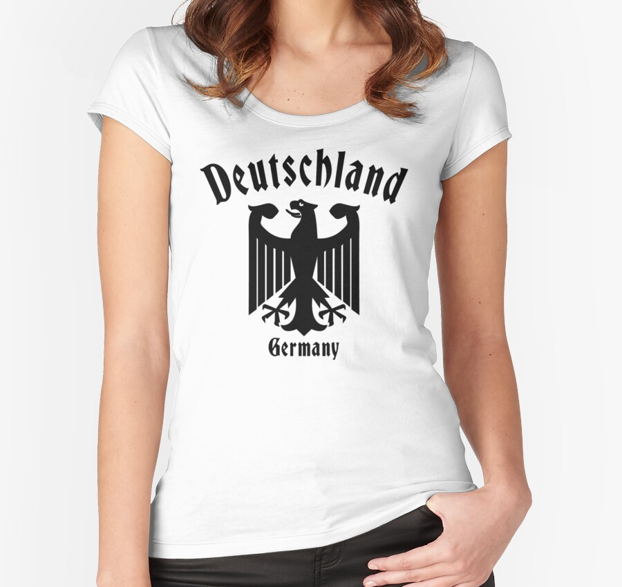 deutschland germany women 39 s fitted scoop t shirts by. Black Bedroom Furniture Sets. Home Design Ideas