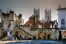 Bootham Bar & the Towers of York Minster by Christine Smith