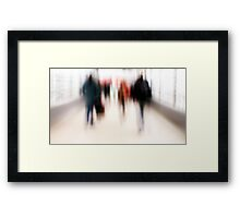 Moving People Framed Print
