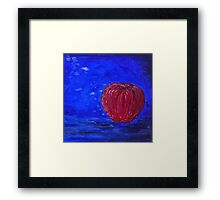 Red Apple on a Blue Day Framed Print