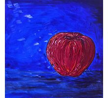 Red Apple on a Blue Day Photographic Print