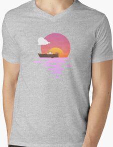 Sunset Mens V-Neck T-Shirt