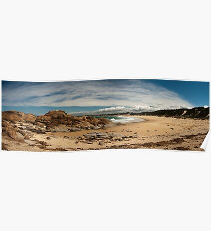Beach and Rocks in South-east victoria Poster
