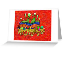 Abstract digital art - Grafenonci V3 Greeting Card