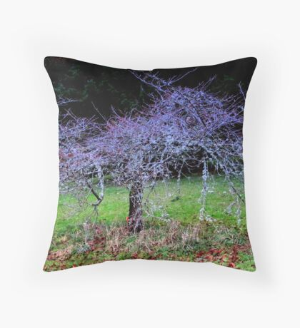 Wise Old Cherry Tree  Throw Pillow