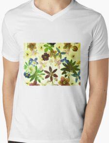 Floral May Mens V-Neck T-Shirt
