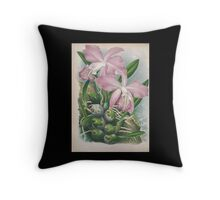 Iconagraphy of Orchids Iconographie des Orchidées Jean Jules Linden V4 1888 0194 Throw Pillow