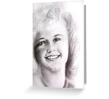 smile in black and white Greeting Card