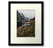Going to the mountains Framed Print