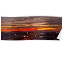 Sunset over the Waitakere Ranges Poster