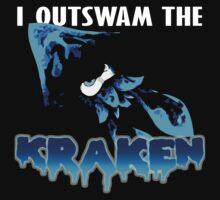 I Outswam the Kraken -Blue Kids Clothes