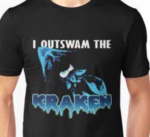 I Outswam the Kraken -Blue Unisex T-Shirt