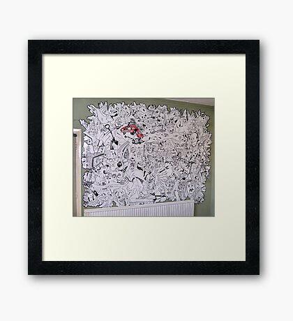 FUSION MURAL - Random. Framed Print