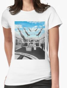Swimming in a pool of Logic Womens Fitted T-Shirt