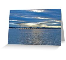 Sailboat's view - Bongaree, Bribie Island Greeting Card