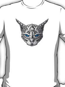 Ornate Blue Eyes Cat T-Shirt