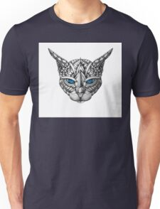 Ornate Blue Eyes Cat Unisex T-Shirt