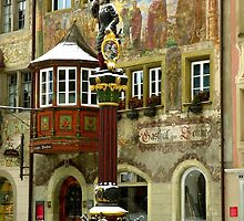 Historic Fountain in Stein am Rhein by Charmiene Maxwell-Batten