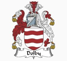 Coat of arms (family crest) for last-name or surname Dolby . Heraldry banner for your name. by rita24