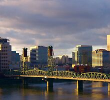 Portland, Oregon (USA) skyline, November, 2009... by Allan  Erickson