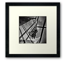 Abstract Urban Landscape View from My Balcony Framed Print