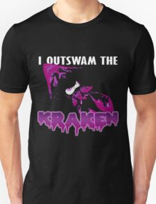 I Outswam the Kraken -Purple Unisex T-Shirt